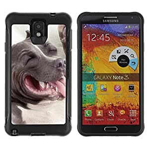 LASTONE PHONE CASE / Suave Silicona Caso Carcasa de Caucho Funda para Samsung Note 3 / American Pit Bull Terrier Dog