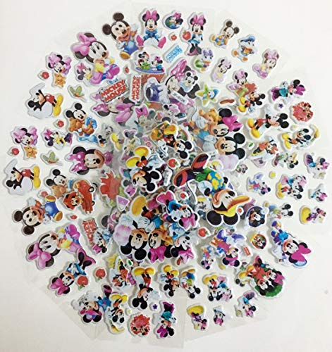 Chaoiwah Mickey Mouse Stickers 3D 10 Sheets and 2 More Free Sheet Sticker 12 Sheets per Pack-Mickey Mouse -