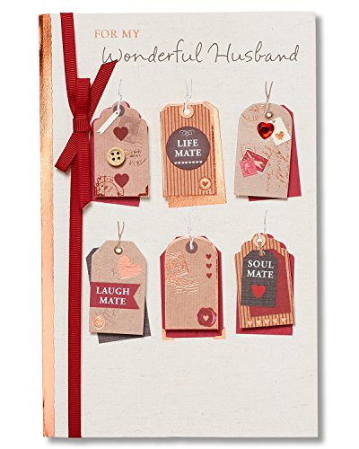 American Greetings Wonderful Husband Sentimental Valentine's Day Card for Husband with Ribbon