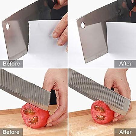 yotame Afilador de Cuchillos Profesional, 4 en 1 Afilador de Cuchillos de Cocina Base Antideslizante Afilador de Cuchillos Manual Knife Sharpener para Cuchillos, Tijeras, Cuchillos Jamoneros
