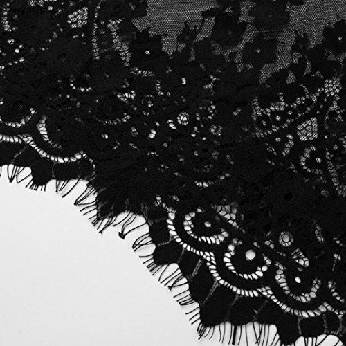 confortevole Adeshop Cross Canotta T Bandage shirt senza Patchwork Allentato in Top Backless pizzo Donne economici Sling Nero Pure tratto lungo Camicetta maniche Color xrqZSIwr4a