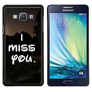 - I Miss you Lover Heart - - Cubierta del caso de impacto con el patr??n Art Designs FOR Samsung Galaxy A7 Queen Pattern