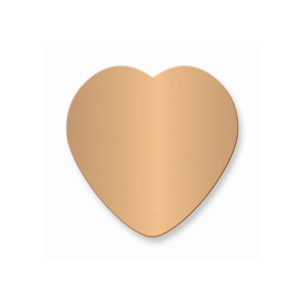 1 7/8 x 1 7/8 Heart Copper Alum Plates-Sets of 6