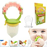 1pc Silicone Baby Food Feeder Pacifier Nipple Gum Teether With Fresh Fruits Vegetables For Feeding Tool Safety Baby Toddlers Supplies Toy + 1pc Extra Nipples