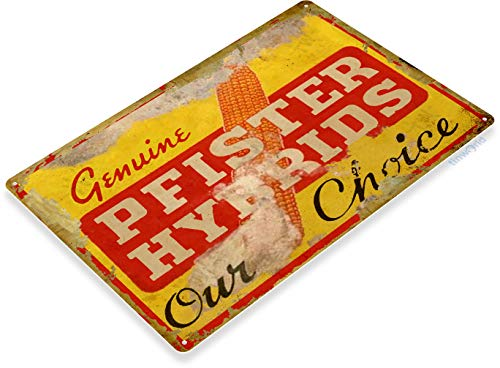 Feed Store Sign Tin (Tinworld TIN Sign C331 Pfister Hybrids Seed Retro Rustic Feed Seed Store Farm Barn Sign)