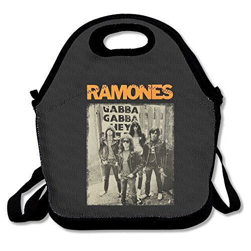 Ramones Lunch Bag Travel Zipper Organizer Bag, Waterproof Outdoor Travel Picnic Lunch Box Bag Tote With Zipper And Adjustable Crossbody Strap