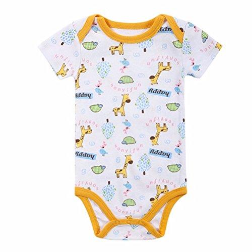 ENVY BODY SHOP Adult Baby & Diaper Lover(ABDL) Snap Crotch Little Giraffe Romper (X-Large)