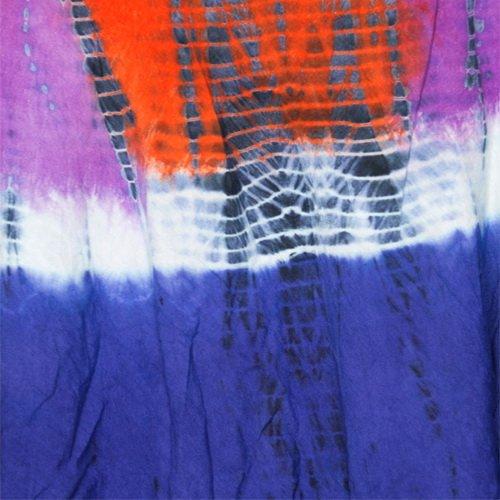 La Leela RAYON PLUS Size Beach Dress Cover up HAND Tie Dye Design Swim Orange
