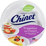 Chinet Classic White Dessert Plates, 35-Count Packages  (Pack of 6)
