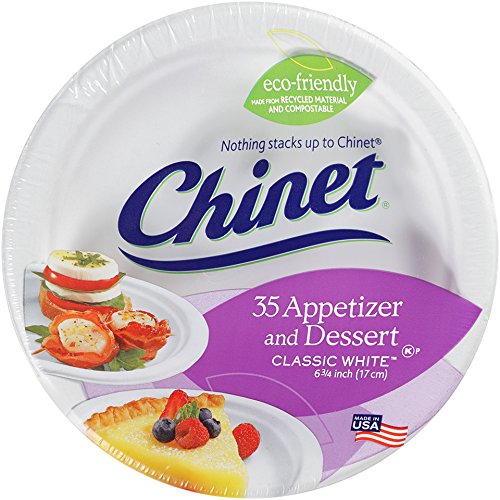 Chinet Classic White Dessert Plates, 35 Count