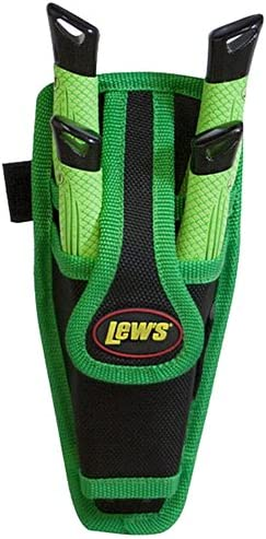 Lews Fishing MPS Green /& Black Mach Speed Pedestal Sheath ONLY Holds 2 Tools