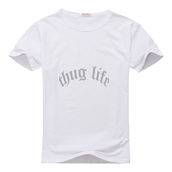 HGLee Printed Personalized Custom Thug Life Mens T Shirt ...