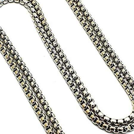 LONG TAO 55 DIY Iron Box Chain Strap Handbag Chains Accessories Purse Straps Shoulder Cross Body Replacement Straps with 2 Metal Buckles Gold