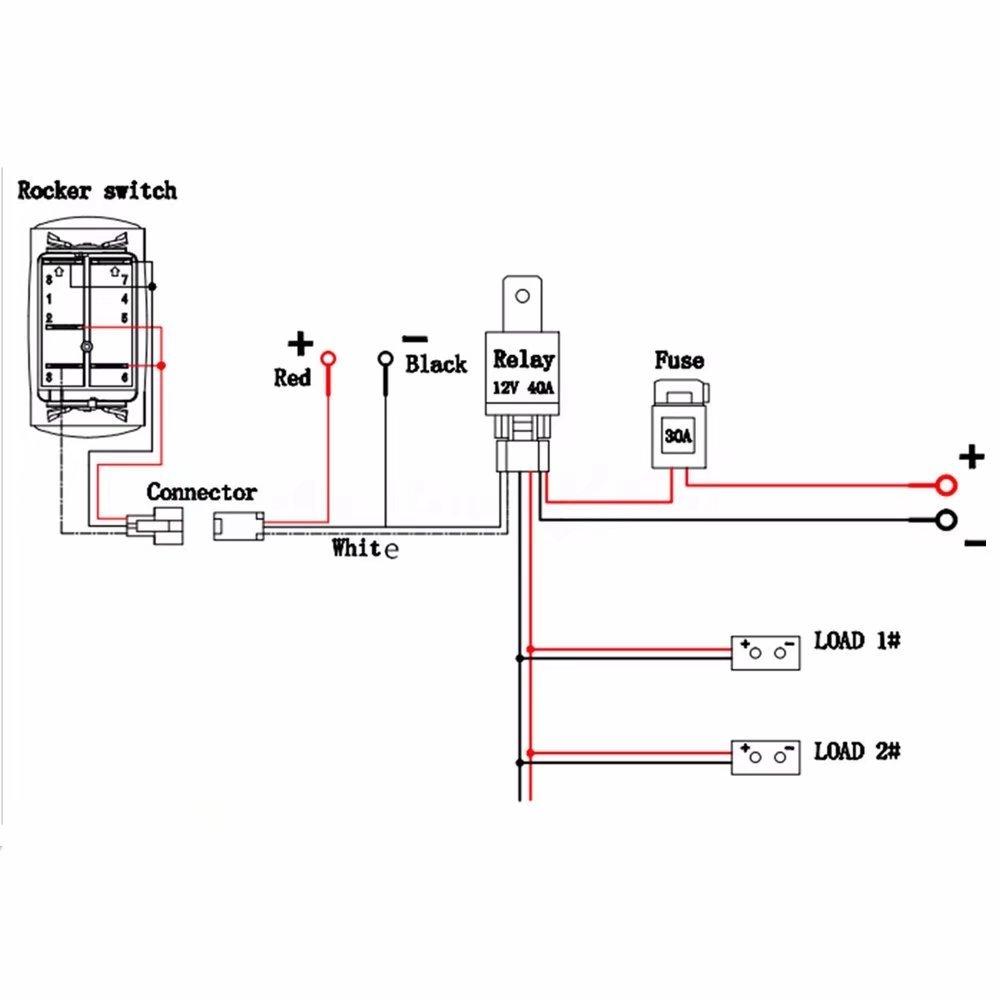 Mu Fog Light Relay Diagram Mediatown 360 Driving Wiring Kit Amazoncom Kingfurt Universal Led Lamp Harness Fuse