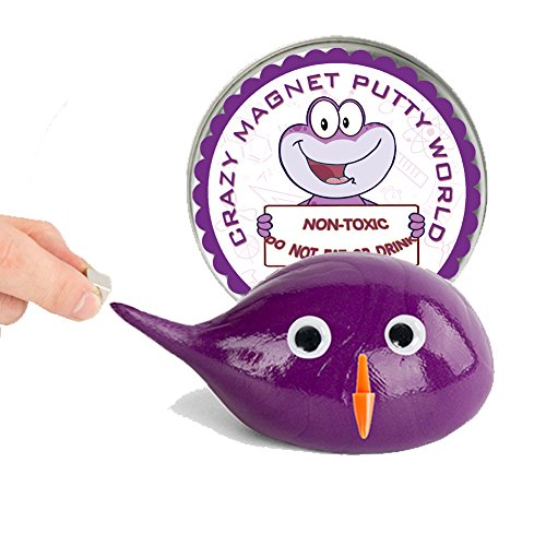 Magnetic Slime Putty , Creative Super Magnetic Slime Making Kit Toys for Kids and Adults (Purple)