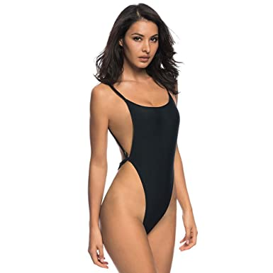 fe85d26396 Bather 2018 Sexy High Cut One Piece Swimsuit Backless Swim Suit For ...