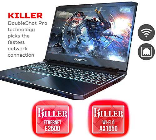"Predator Helios 300 Gaming Laptop, Intel Core i7-9750H, GeForce GTX 1660 Ti, 15.6"" Full HD 144Hz Display, 3ms Response Time, 32GB DDR4, 1TB PCIe NVMe SSD, RGB Backlit Keyboard with JTD Gaming Mouse"