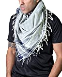 Anika Dali Men's Madison Shemagh Scarf in Natural Cotton with Tassels