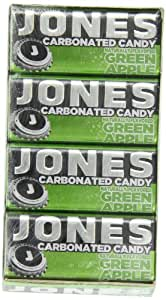 Jones Soda Candy Green Apple Carbonated Candy, 0.89-Ounce Tins (Pack of 16)