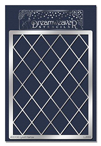 Stampendous Dreamweaver Metal Stencil, Diamond Grid (Weaver Diamond)