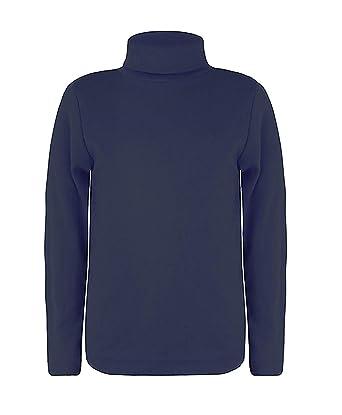 fdd48142e3dd5 LOTMART Enfants Manches Longues col roulé Uni Haut Basique Garçon Fille  Polo Jersey haut  Amazon.fr  Vêtements et accessoires