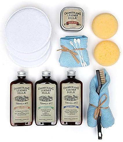 Amazon.com: Kit de restauración de cuero de leche – talón y ...