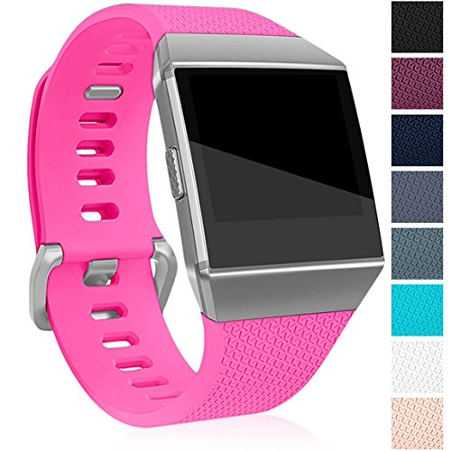 Maledan Replacement Band for Fitbit Ionic, Rose Pink Small