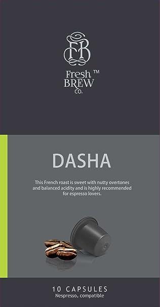 Fresh Brew Co  Dasha Intensity 8 coffee capsule (Nespresso Compatible)