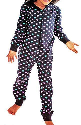 Kinder Schlaf Jumpsuit Mädchen Pyjama Overall Schlafanzug lang Gr. 110 bis 164