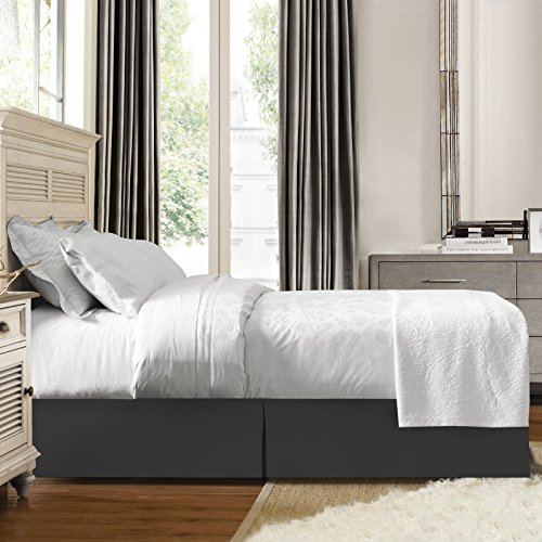 Nestl Bedding Pleated Bed Skirt Luxury Microfiber Dust
