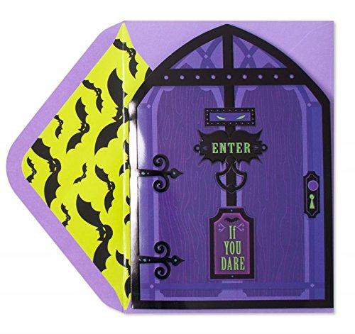 PAPYRUS HALLOWEEN GREETING CARD Door Knocker Pop-Up & Sound