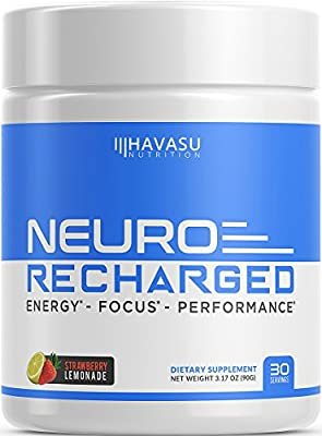 Extra Strength Brain Supplement for Energy & Focus - Mental Performance Nootropic & Pre Workout with Natural Caffeine, Ginkgo Biloba & More – No Crash, No Jitters #1 Brain Booster Stack