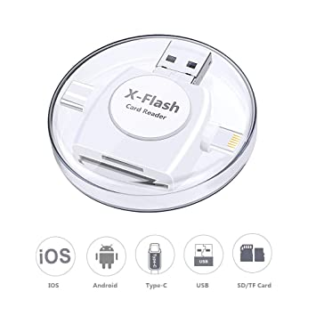 Sonoka Lector Tarjetas de Memoria SD/Micro SD 4 en 1 Adaptador Tarjetas USB 3.0/ Lightning/Micro USB/Tipo C Conector, Lector de Tarjetas para Apple ...