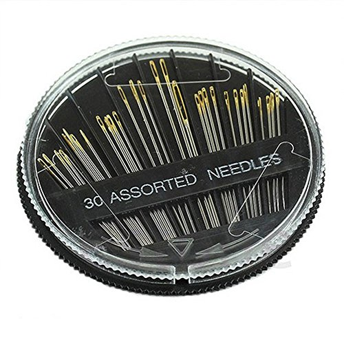 30PCS Assorted Hand Sewing Needles Embroidery Mending Craft Quilt Sew ()