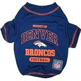 Pets First NFL Denver Broncos T-Shirt, Medium, My Pet Supplies