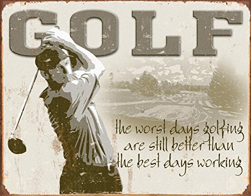 Golf Best Days Metal 16x12 product image