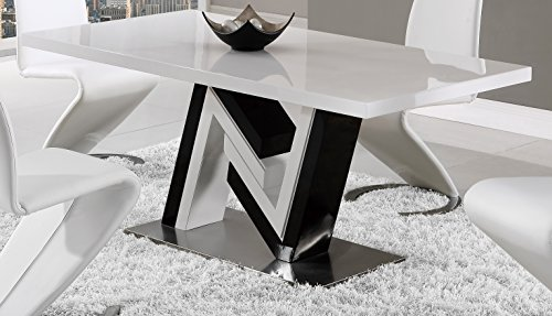 Global Furniture Dining Table, White & Black by Global Furniture USA
