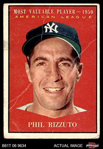 1961 Topps # 471 Most Valuable Player Phil Rizzuto New York Yankees (Baseball Card) Dean's Cards 1.5 - FAIR Yankees (Rizzuto Phil Memorabilia)
