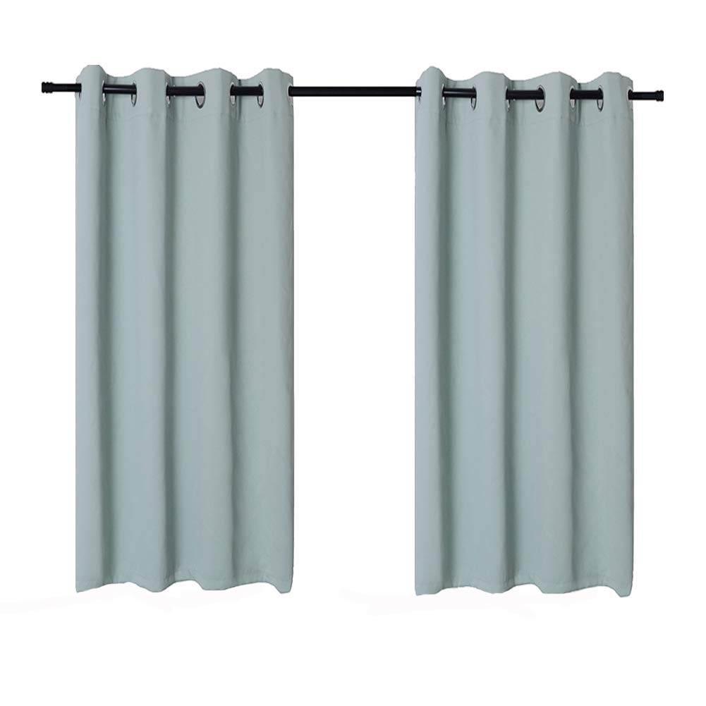 Anjee Curtain Tiebacks Magnetic (2 Pairs), Classic European Window Curtain Holdbacks for Blackout Curtains, Draperies and Sheer Panels (Beige, 4 Pieces)
