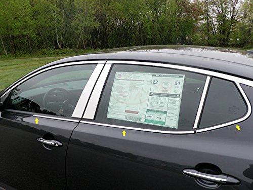 QAA fits 2011-2015 Kia Optima 6 Piece Stainless Window Sill Trim Set WS11805