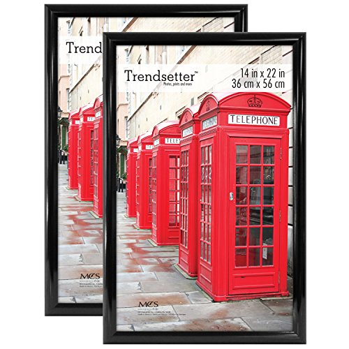 MCS Trendsetter 14x22 Inch Poster Frame (2pk), Black (Movie Picture Frames)