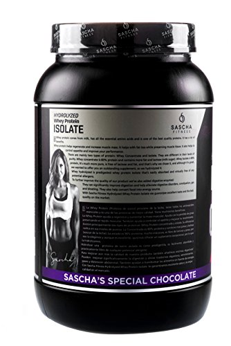 Sascha Fitness Hydrolyzed Whey Protein Isolate,100% Grass Fed (2 Pounds, All)
