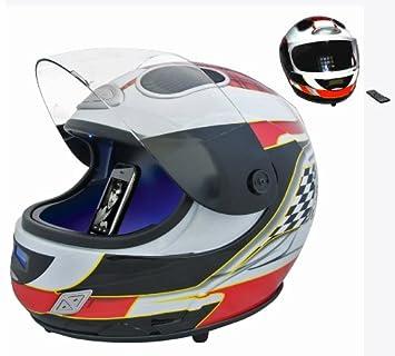 Moto GP y F1 (rojo) begadi para casco con control de Audio para altavoces