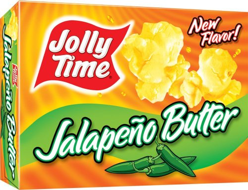 Jolly Time Butter Spicy Microwave Popcorn, Jalapeno Butter, 3-Count Boxes (Pack of 3) by Jolly Time
