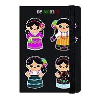 By Mexico Libreta Rayada modelo 4 Indias Negro 80 hojas