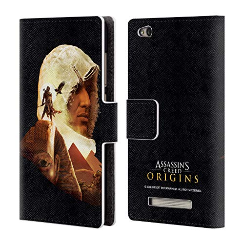 Official Assassin's Creed Bayek Sphinx Origins Character Art Leather Book Wallet Case Cover for Xiaomi Redmi 4a