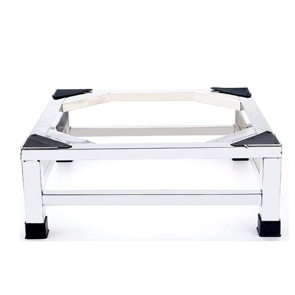 洗濯機ベース、ステンレススチール多機能ベースブラケット防水ベース防振ミュート冷蔵庫ブラケット(固定式足)   B07L9S6KFY