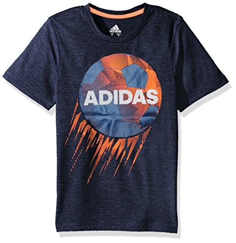 adidas Big Boys' Short Sleeve Graphic Tee Shirts, Collegiate Navy Soccer, X-Large Athletic Screen Print T-shirt