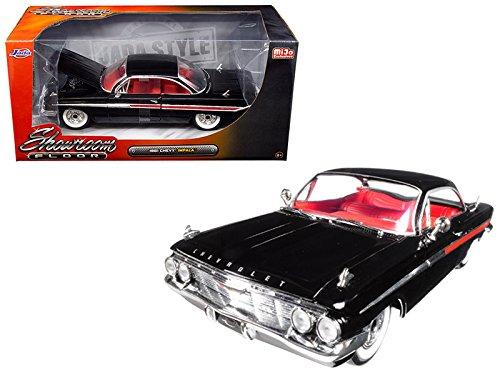 StarSun Depot 1961 Chevrolet Impala Black Showroom Floor 1/24 Model Car by Jada (Ground Floor Showroom)