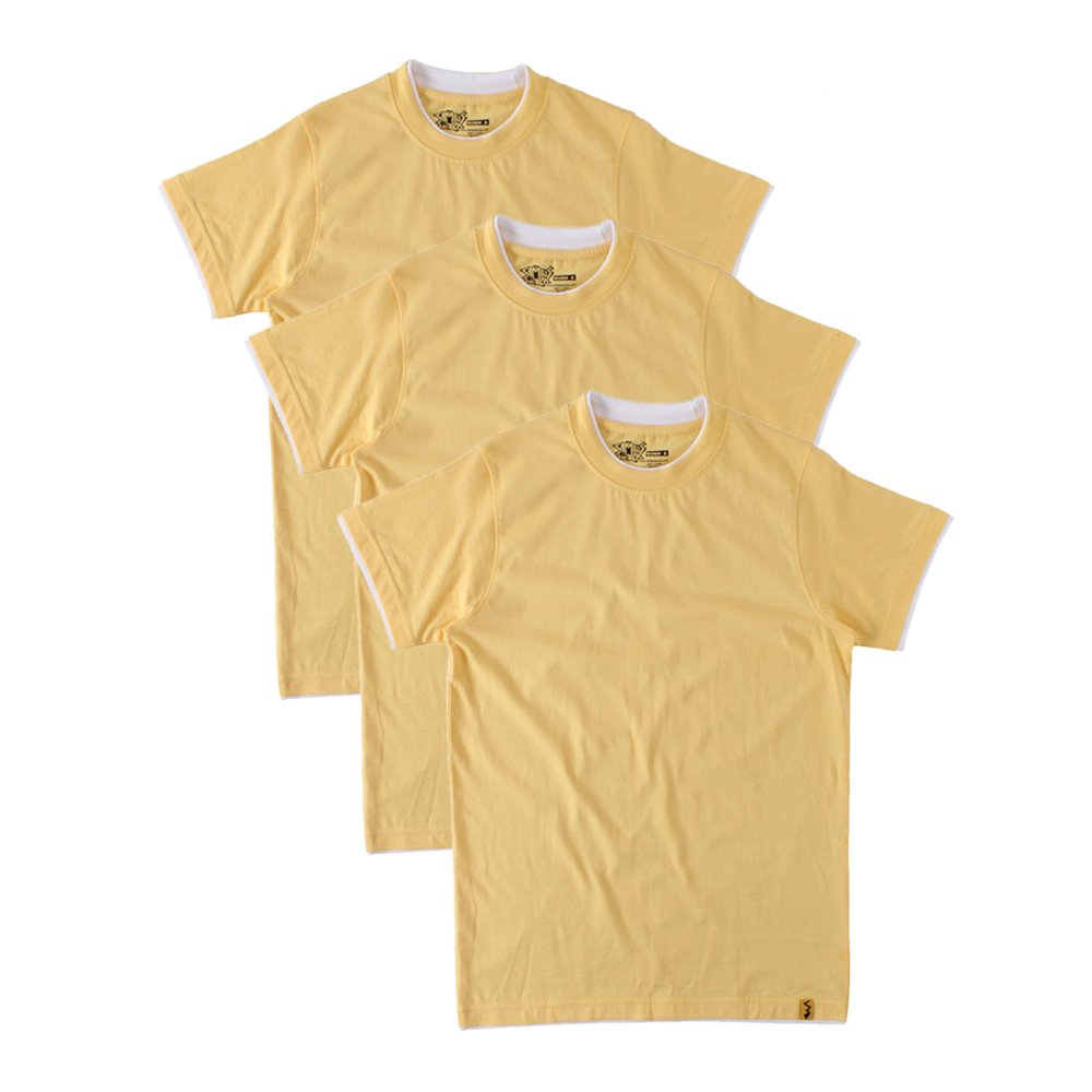 Men's Round Neck Cotton T-Shirt (Pack of 3)